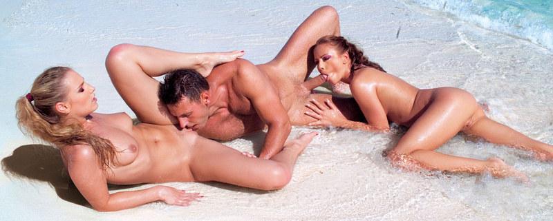 Трах на белом песке