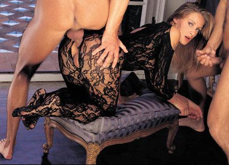 Секс чулки на милой даме